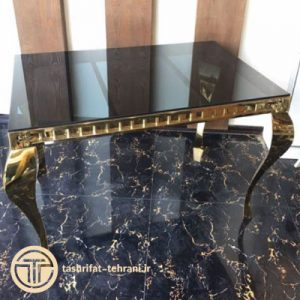 میز سلطنتی بزرگ طلایی