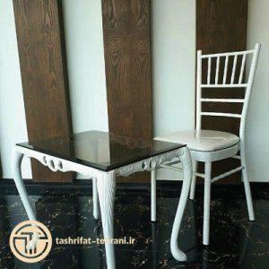 میز و صندلی سفید