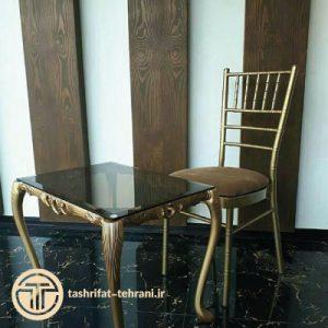 میز و صندلی طلایی